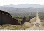 La valla que corta el desierto de Sonora