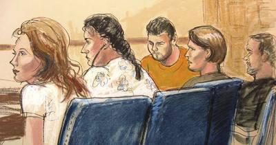 Retrato de los presuntos espías en una vista judicial.