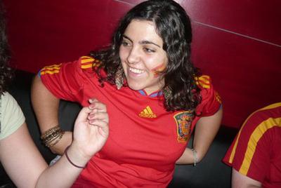 Marta Acosta, con la camiseta de la selección española.