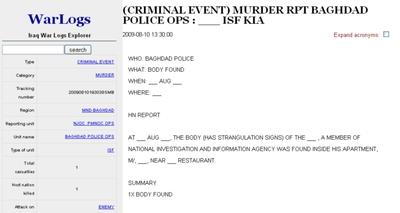 Imagen de uno de los documentos publicados en Wikileaks.