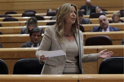 Trinidad Jiménez, ayer en el Senado.