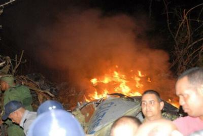Fotografía del periódico local Escambray de la zona del accidente aéreo de la compañía cubana Aereocaribean, avión en el que viajaban 68 personas.
