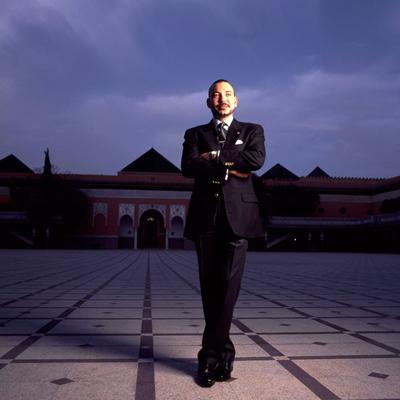 El rey de Marruecos, Mohamed VI, en el palacio real de Marrakech en junio de 2000.