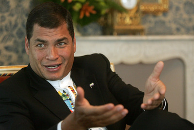 El presidente de Ecuador, Rafael Correa, en junio de 2007.