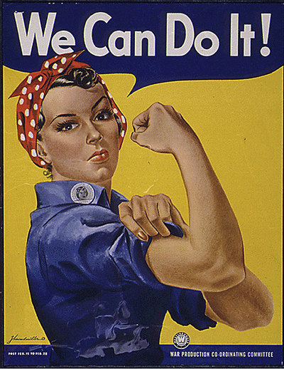 Cartel de 1942 conocido popularmente como Rosie la Remachadora.