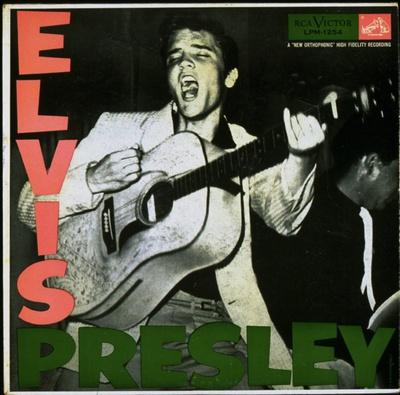 Imagen del primer disco de Elvis Presley publicado en 1956.