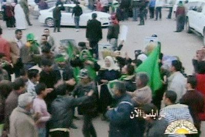 Partidarios del régimen de Gadafi se manifestan hoy en Trípoli