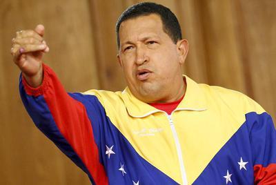 El presidente de Venezuela Hugo Chavez, durante una conferencia de prensa en el Palacio de Miraflores, en Caracas, tras la victoria en las elecciones legislativas de 2010