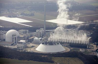 Planta nuclear de Neckarwestheim en Baden-Württemberg, en el suroeste de Alemania