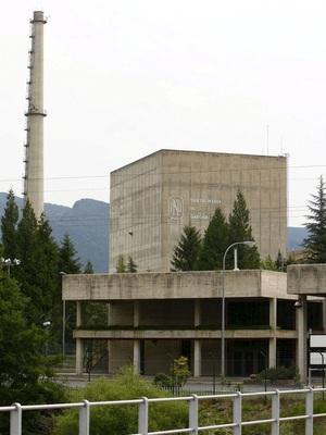 Imagen de la torre de la planta nuclear de Santa María de Garoña (Burgos).