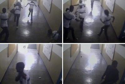 Secuencia del asalto al instituto de Río de Janeiro.