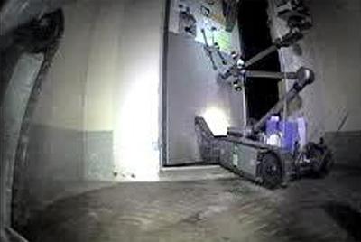 Uno de los robots que trabajan midiendo la radiación en la central de Fukushima.