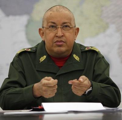 El Presidente Venezolano, Hugo Chávez, en una reciente comparecencia