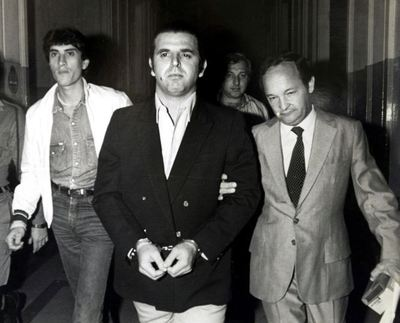El cabecilla del grupo guerrillero argentino los Montoneros, en Buenos Aires en 1984, tras ser detenido en Brasil.