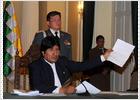 Evo Morales niega su responsabilidad en la represión violenta de indígenas