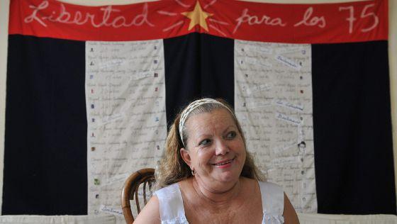 Laura Pollán, líder de las Damas de Blanco, en una fotografía de archivo.