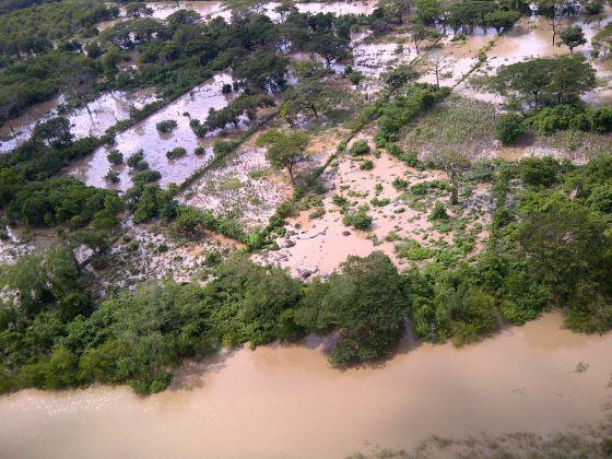 Vista aérea de Bajo Lempa, Usulutan, a 129 al sur de San Salvador.
