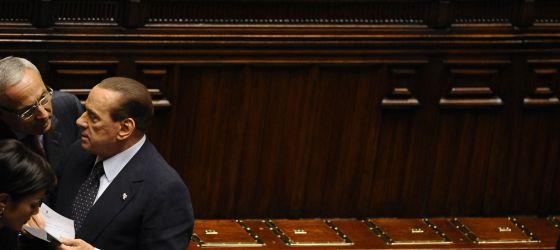 Berlusconi, este sábado en el Congreso italiano.