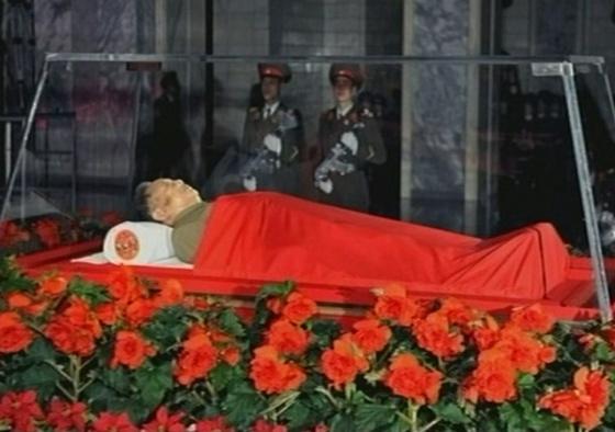 El cuerpo del líder norcoreano en el Palacio de Kumsusan, en Pyongyang.