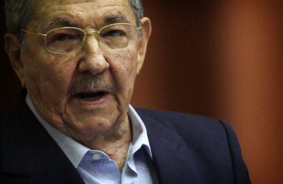Raúl Castro, durante su discurso ante la Asamblea.