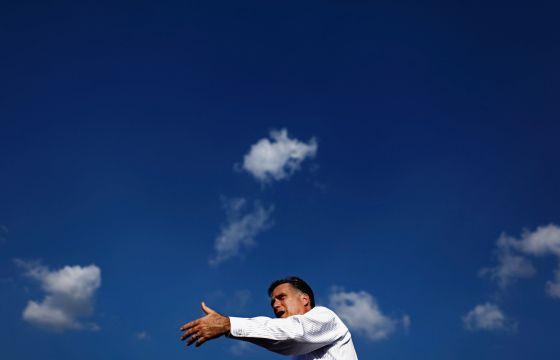 Mitt Romney durante un acto electoral en Leigh Acres, Florida, esta semana.
