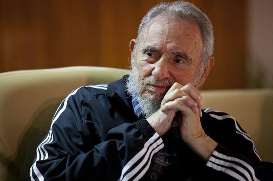 Fidel Castro durante el acto de presentación del libro.