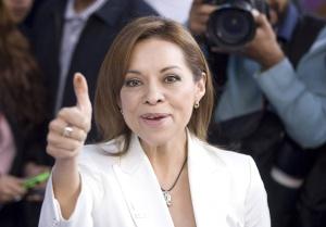 Vázquez Mota, tras votar en las elecciones internas del PAN.