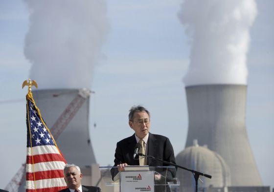 El secretario de Energía de EEUU, Steven Chu, en la planta de energía nuclear de Vogtle, en el estado de Georgia, el pasado febrero.