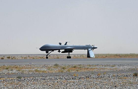Un 'drone' en el aeropuerto de Kandahar (Afganistán).