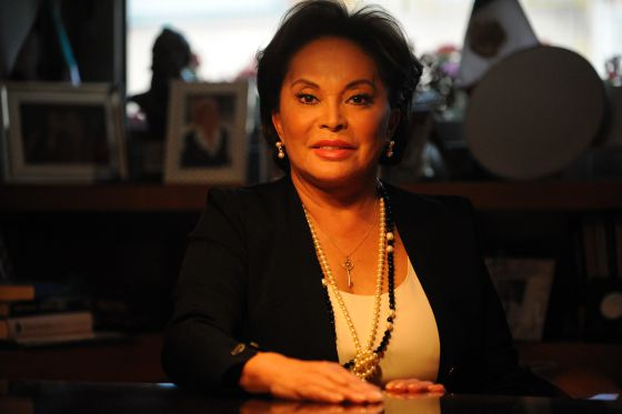 La líder del SNTE, Elba Esther Gordillo, en su despacho en la Ciudad de México.