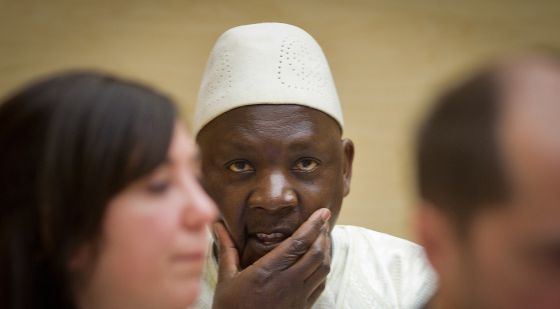 Thomas Lubanga, antes de conocer su sentencia.