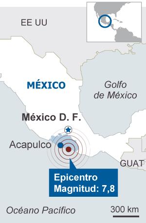 Un fuerte terremoto sacude el suroeste de México
