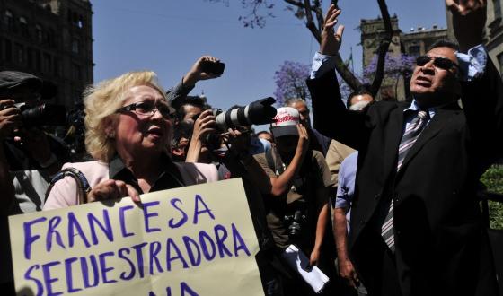Protesta este miércoles en México contra la puesta en libertad de Cassez.