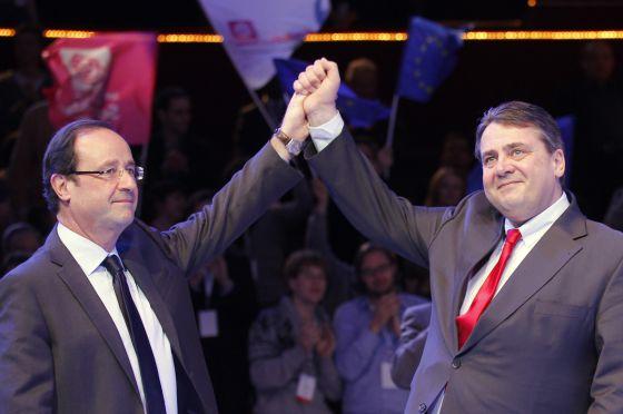 François Hollande a la izquierda y Sigman Gabriel el pasado marzo.