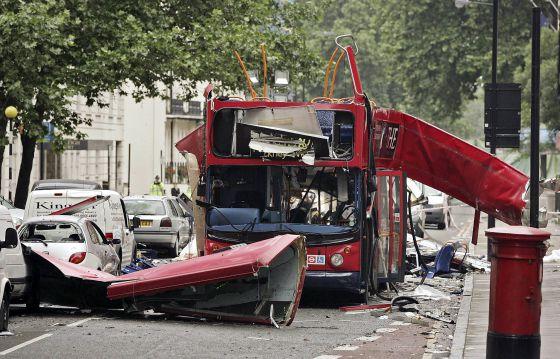 Atentado islamista en Londres, en junio de 2005.