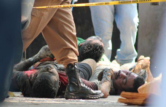 Reclusos hondureños muertos en el centro penal de San Pedro Sula.