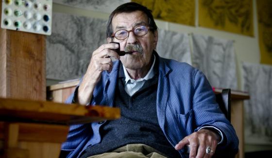 Günter Grass, en su casa de la isla danesa de Mon.