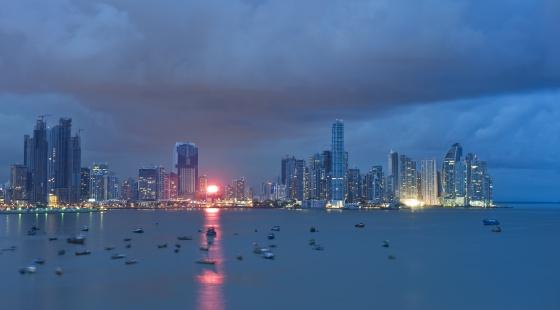 Imagen del puerto de Ciudad de Panamá.