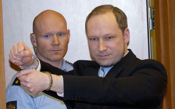 Anders Breivik, durante una vista judicial, el pasado día 10.