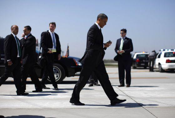El presidente Obama llega a Ohio, este miércoles.