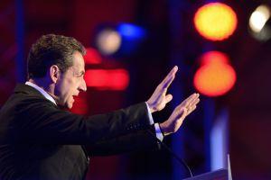 Nicolas Sarkozy, en un mitin en Saint-Maurice