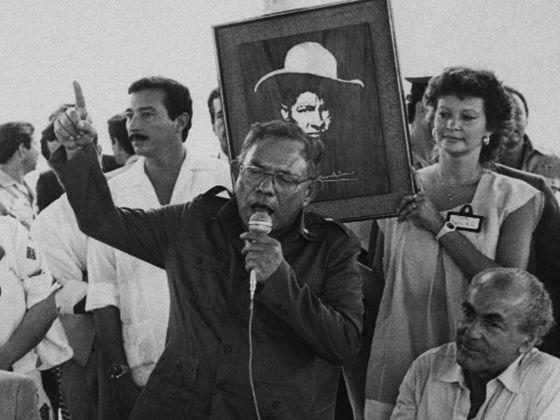 Tomás Borge, en un acto como ministro del Interior de Nicaragua en 1986.