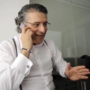 Nabil Karoui, durante una conversación telefónica hoy.