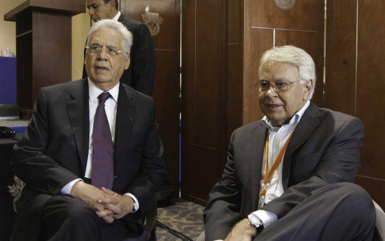 Felipe González y Fernando Henrique Cardoso.