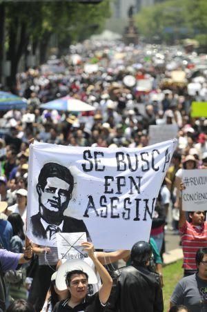 Manifestación del sábado contra Peña Nieto