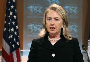 Hillary Clinton en la presentación del Informe de Derechos Humanos de 2001