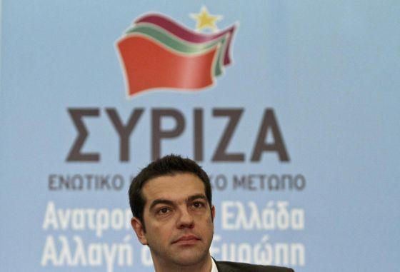 Alexis Tsipras, en la presentación del programa económico de Syriza.