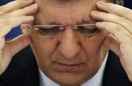 Durão Barroso ayer en Estrasburgo.