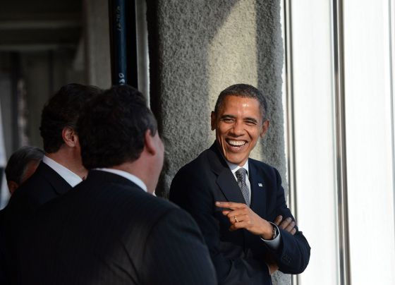 Barack Obama el jueves durante una visita a One World Trade Center de Nueva York.