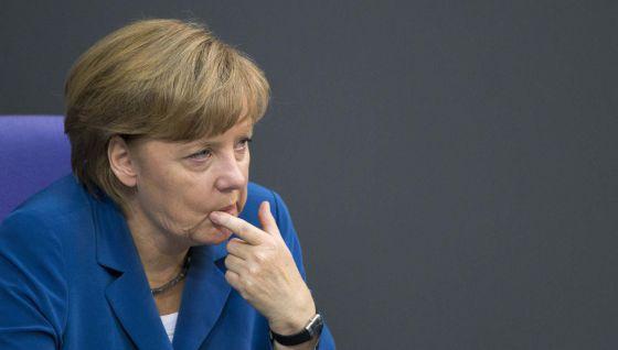 Merkel, en una intervención ante el Parlamento alemán.